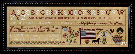 Stars & Stripes - Lucy Moore 1865 from Needlework Press - click for more