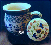 #6 Polish Pottery - A Garden Mug from Olde Colonial -- click to see more