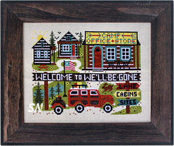 Camp We'll-Be-Gone from Open Road Abode Needleworks - click to see more