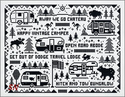 Camper Sampler from Open Road Abode Needleworks - click to see more