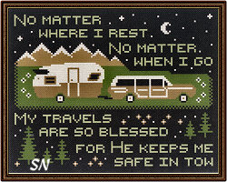 Safe in Tow from Open Road Abode Needleworks - click to see more