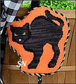 HWL02 Arched Black Cat from Pepperberry Designs - click to see more