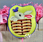 EA01-XS Bunny Basket from Pepperberry Designs - click to see more