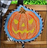 HWL12 Grinning Jack-O-Lantern With Basket from Pepperberry Designs - click to see more