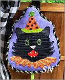 HWL03-XS Fancy Black Cat from Pepperberry Designs - click to see more