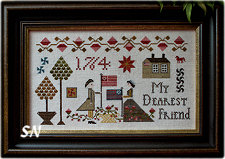 My Dearest Friend from Plum Street Samplers - click for more