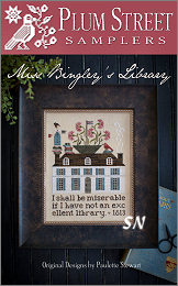 Miss Bingley's Library from Plum Street Samplers