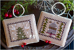 Plum Street Samplers Noah's Christmas Ark 2 Doves and Honeybees - click for more