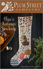 Olga's Autumn Stocking from Plum Street Samplers