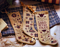 Betsy's Stockings from Plum Street Samplers - click for more