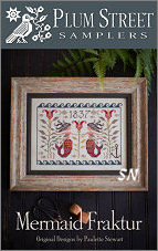Mermaid Fraktur from Plum Street Samplers