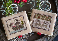 Plum Street Samplers Noah's Christmas Ark VI Ravens and Deer - click for more