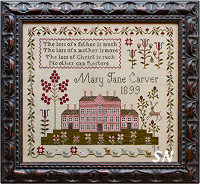 Pink House Sampler from Plum Street Samplers - click for more