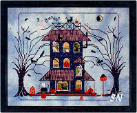 Black Cat Manor from Praiseworthy Stitches - click for more