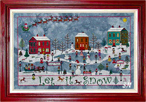 December Snow from Praiseworthy Stitches - click for more