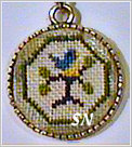 Little Bluebird Necklace Kit from Praiseworthy Stitches - click for more