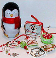 Petite Snow Buddies Etui from Praiseworthy Stitches - click for more