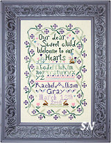 Sweet Baby Sampler from Praiseworthy Stitches - click for more