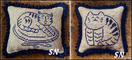 Stoneware Cat & Kitten from Priscilla's Pocket