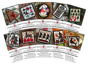 Prairie Schooler's Little Set *E* Black Crow Mini Cards -- click to see more