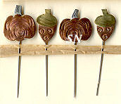 Counting Pins -- Miniature acorns and pumpkins from Puffin & Company - click to see more