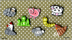 PuntiniPuntini Farmhouse Animals Buttons - click to see more
