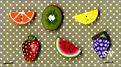 PuntiniPuntini Fresh Fruits Buttons - click to see more