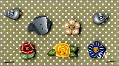 PuntiniPuntini In The Garden Buttons - click to see more