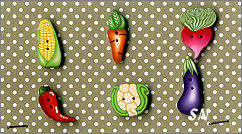 PuntiniPuntini Veggies Buttons - click to see more