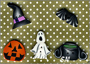 Halloween Special included buttons from PuntiniPuntini