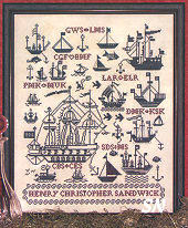 Sailing Ships Sampler from Rosewood Manor - click for more
