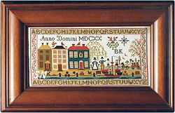 Plymouth Sampler by Brenda Keyes -- click to see a larger view!