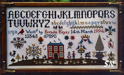 House on the Hill Sampler from The Sampler Company -- click to see more
