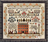 Red House Sampler from The Sampler Company - click for more