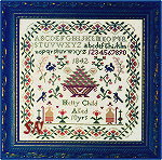 The Hetty Child Sampler by Brenda Keyes -- click to see a larger view!