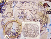 Quaker Virtues Offered by ByGone Stitches -- click to see more