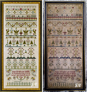 Ann Wright 1726 from Samplers Not Forgotten - click to see more