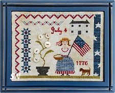 Fourth of July Picnic from Samplers Not Forgotten - click to see more