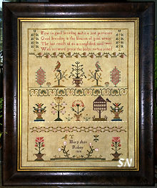 Mary Ann Robey 1810 from Samplers Not Forgotten - click to see more