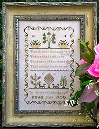 Sarah Ann Kiddy 1860 from Samplers Not Forgotten - click to see more
