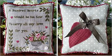 One Hundred Hearts from Samplers Not Forgotten - click to see more