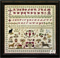 Black Cat Sampler from Samplers Not Forgotten - click to see more