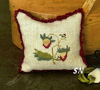 Strawberry Pincushion from Samplers Not Forgotten - click to see more