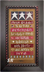 Sadie Stuart: I Pledge Allegiance Sampler from SamSarah Design Studio - click for more