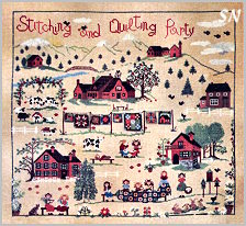 Stitching and Quilting Party by Sara Guermani - click for more