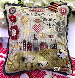 From Sea to Shining Sea Pincushion from Shepherd's Bush - click to see more