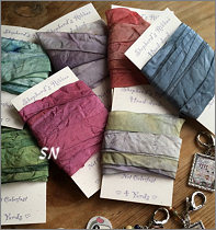 Hand-dyed Silk Ribbon from Shepherd's Bush - click to see more