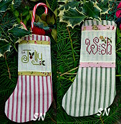 Jolly & Wish Stockings from Shepherd's Bush - click for a larger view