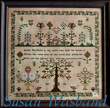 Susan Wasband Sampler from Scarlett House - click for more