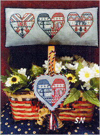 Patriotic Hearts from ScissorTail Designs - click to see more